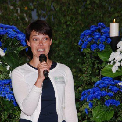 Lauantain pääjuhlan juontaja Katja Kannonlahti